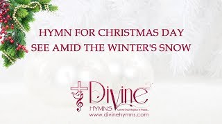 See Amid the Winters Snow Christmas Song Lyrics Video
