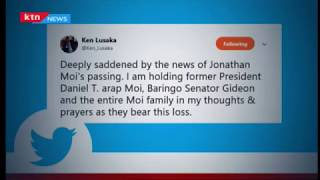 Leaders mourn Jonathan Moi as they send in condolence messages