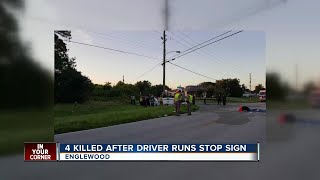 Four Killed After Driver Runs Stop Sign