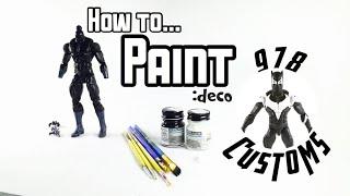 HOW TO: Paint marvel legends Action figures - BLACK PANTHER- VENOMVERSE