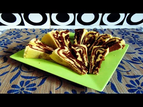 Video Resep Cara Membuat Bolu Kukus Zebra