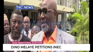 Dino Melaye storms INEC office, demands cancellation of Kogi West Election results