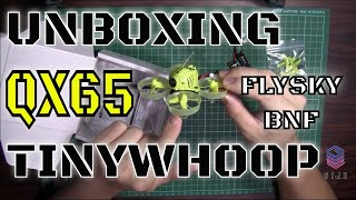 Unboxing Eachine QX65 65mm TinyWhoop FPV Racing Drone F3 OSD Flysky i6