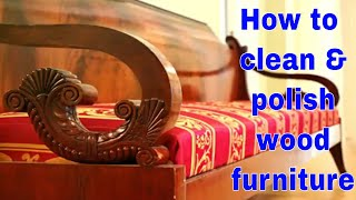 Best wood furniture cleaner and polish  |How to clean & polish wood furniture  homemade wood cleaner