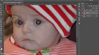 Photoshop Tutorial | Removing red eyes with the red eye tool