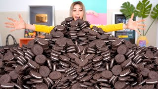 Mixing All My 1000 Oreos Into One Giant Oreo!