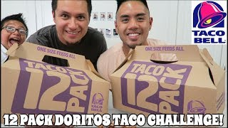 TACO BELL 12 PACK DORITOS TACO CHALLENGE! EAT OFF