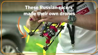 Competitors make DIY drones for racing contest in Russia