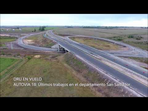 Ultiman obras en la autovía de la Ruta 18 a la altura de San Salvador