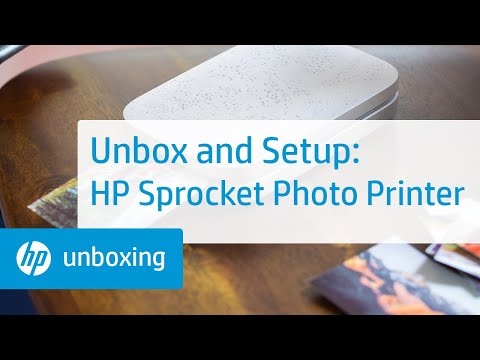 Unboxing and Setting Up the HP Sprocket Photo Printer