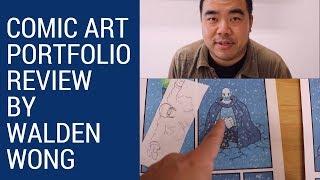 Comic Art Portfolio Review Series - Review#1 by Comic Book Artist Walden Wong