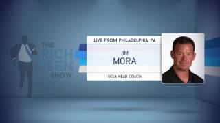 UCLA Football HC Jim Mora on Rich Giving A Talk to UCLA Players On How To Handle Media - 4/27/17