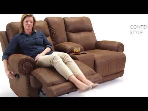 Austere 3840094 Reclining Loveseat with Console
