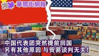 中国代表团突然提前回国,另有其他原因:与贸易谈判无关?!| 华尔街网报(20190921-2)