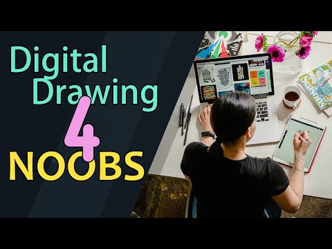 Digital Drawing for Complete Noobs - Part 1 - Basic Drawing Programmes
