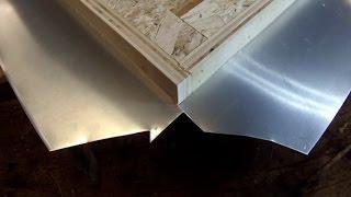 Zinc Counter Top Corner Fold Detail Tutorial