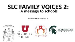 SLC Family Voices 2: A Message to Schools