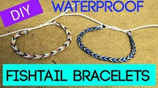 DIY Fishtail Braid Wax String Friendship Bracelet | Waterproof Bracelets Inspired By Pura Vida
