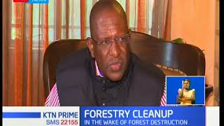 Environment CS Keriako Tobiko has sacked forest officers in Nairobi and Kiambu