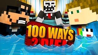 Minecraft: 100 WAYS TO DIE CHALLENGE - A MASSIVE WAVE!!