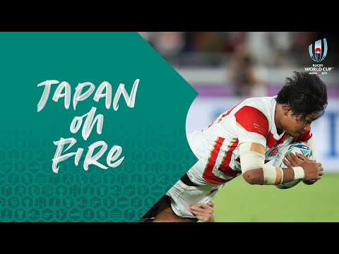 Japan score amazing offloading try against Scotland