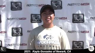 2021 Kayla Gonzalez Athletic Catcher and Outfield Softball Skills Video - Lady Wolfpack 18 Gold