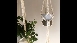 Macrame Plant Hanger | Tutorial | Beginner | Square Knot | Twisting Knot