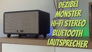GROSS, LAUT, RETRO - 1byone  Hi-Fi Stereo Bluetooth Lautsprecher mit richtig viel BUMMS  Test Review