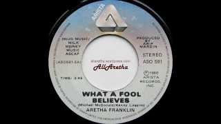 "Aretha Franklin - What A Fool Believes / Love Me Forever - 7"" Canada - 1980"