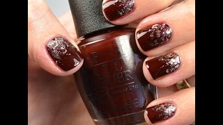 Nail Tutorial: Glitter Gradient (maroon And Gold)
