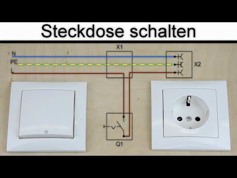 Steckdose schalten - Steckdose an Schalter anschließen - (ohne Steckdosenleiste / Mehrfachsteckdose)