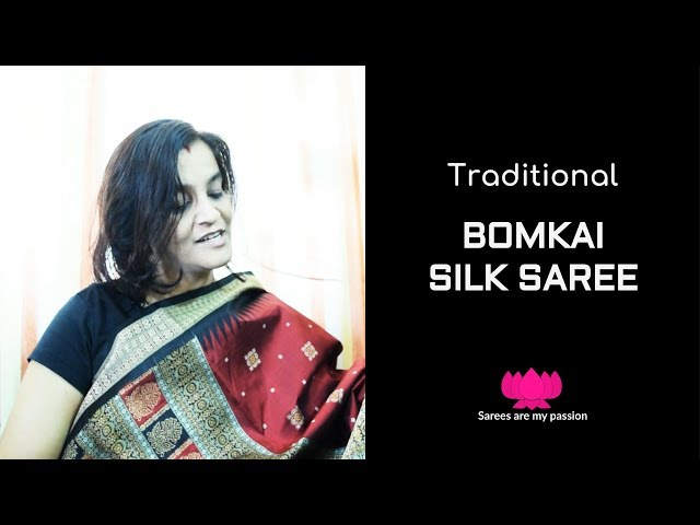 48 Black and Deep Maroon Bomkai Silk Saree from Odisha || Sarees are my passion