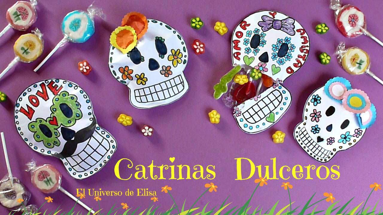Cómo hacer una Catrina Dulcero para el Día de los Muertos, Day of the Dead, Calaveras con dulces