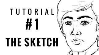 Beginner's Digital Art Tutorial 01 - THE SKETCH