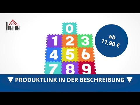 Homcom 10 tlg Matte Puzzlematte Spielmatte Bodenmatte Turnmatte EVA Zahlen - direkt kaufen!