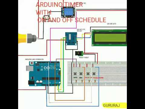 ARDUINO based Relay ON and OFF using RTC TIMER