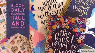 Bloom Daily Planners Haul And Flipthrough