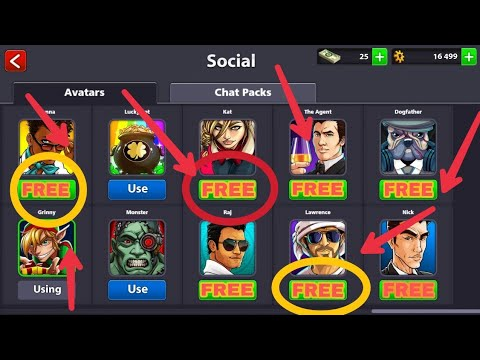 "FREE 8 ball pool Avatar ""How""    Hindi   "
