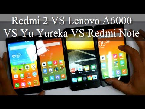 Xiaomi Redmi 2 VS Lenovo A6000 VS Yu Yureka VS Xiaomi Redmi Note 4G- Best 4G Smartphone Under ₹10000