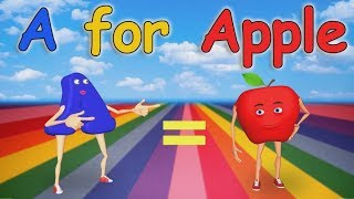 A for Apple Nursery Rhymes | Alphabet Song | ABC Song for Children