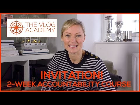 Video blogging course for business - 2-Week Accountability Online ...