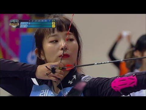 【TVPP】 TWICE vs Red Velvet - Archery Preliminaries ,트와이스vs레드벨벳 - 양궁 예선@Idol Championship 2018