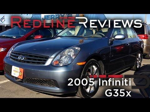 2005 Infiniti G35x Review, Walkaround, Exhaust, Test Drive
