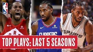 Kawhi Leonard's TOP PLAYS   Last 5 Seasons