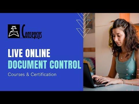 Document Control Training Course - Live Online Virtual Classroom ...