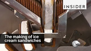 The Process Of Making Ice Cream Sandwiches Is Glorious