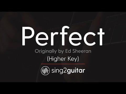 Download Perfect Higher Acoustic Guitar Karaoke Ed Sheeran Mp4 HD Video and MP3