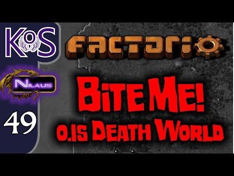 Factorio 0 15 Bite Me! Ep 49: POWER, BITERS, & BLUE SCIENCE