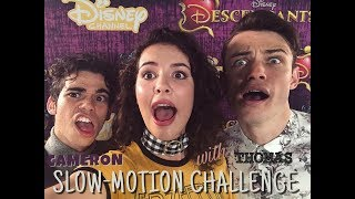 Who WINS the SLOW-MO Challenge? CAMERON vs THOMAS from Descendants!!