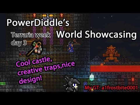 Terraria World Showcase | Castles, Boss Arenas & Item